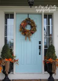 Christmas Office Door Decorating Themes by Fall Home Tour Exterior Front Porch Entry Idolza