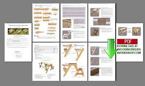 pdf woodwork folding picnic table bench plans download diy plans