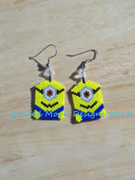minion earrings beaded minion earrings https www pages beaded