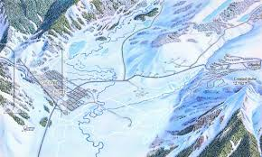 Colorado Ski Map by Crested Butte Nordic Colorado James Niehues Map Artist Ski