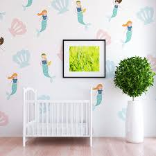 move over unicorn mermaid is the new trend in town project nursery mermaid and shell wall decals the project nursery shop