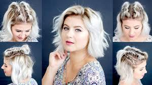 hairstyles for back to school short hair 4 easy short hairstyles tutorial milabu youtube