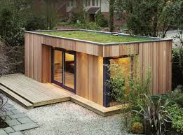 Back Yard House Westbury Garden Rooms Creates Green Roofed Backyard Retreats