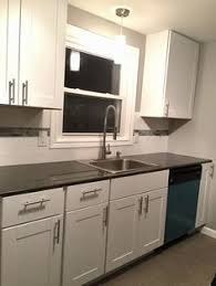 Hampton Bay Cabinets Madura Pearl 4922 Quarry Finish Wilsonart Laminate Kitchen