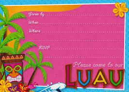 party planning center free printable hawaiian luau party invitations