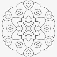easy mandala coloring kids drawing coloring pages