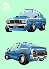 nissan skyline drawing commission cartoon car drawing by sharknob on deviantart