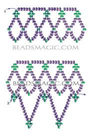free beading pattern 1 free pattern for necklace junona crafts