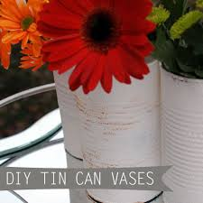 Tin Vases Recycled Can Home Decor