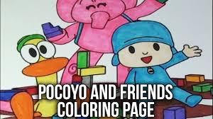 pocoyo coloring book pocoyo friends speed coloring