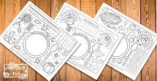 printable thanksgiving placemats itsy bitsy fun