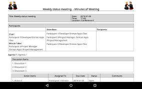 Conference Call Meeting Agenda Template by Meeting Minutes Trial Android Apps On Google Play