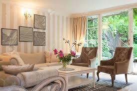 Vintage Livingroom Vintage Mansion A Luxurious Suite In A Beige Living Room Stock