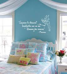 tinkerbell decorations for bedroom disney tinkerbell quote laughter is timeless wall words sticker