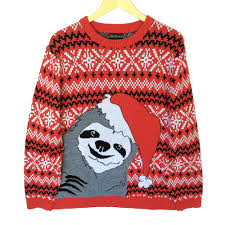 alex creeper sloth tacky sweater the