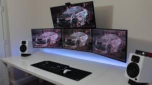Pc Desk Setup Gaming Computer Desk Setup Hoosing A Proper Gaming Computer Desk