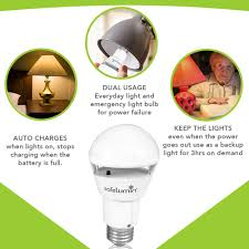 emergency lights when power goes out safelumin bulb with battery backup warm white 2700k safelumin