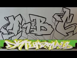 how to draw graffiti wildstyle letters a to z youtube