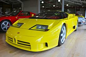 yellow bugatti bugatti eb110 supersport twistandlean