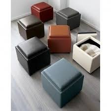 Ottoman Leather Storage Leather Cube Storage Ottoman Foter