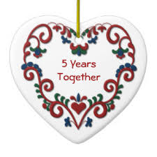 5 years together ornaments keepsake ornaments zazzle