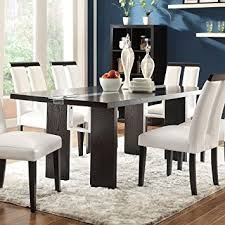 black contemporary dining table amazon com coaster home furnishings 104561 contemporary dining