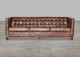 Leather Sofas For Sale Cigar Antique Brown Top Grain Leather Sofa Gold Nailheads