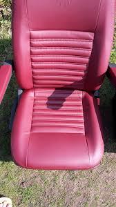 Leather Captains Chairs Red Leather T5 Front Seats Vdub Trimshop