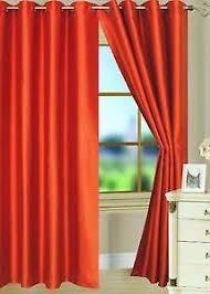 And Orange Curtains Orange Curtains Ebay