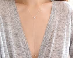 sterling silver drop necklace images Lariat y necklaces etsy ie jpg