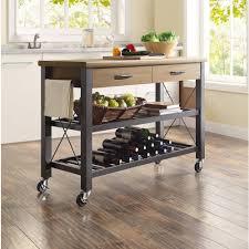 kitchen furniture metal kitchen island cart portable wood top
