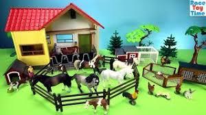 Toy Barn With Farm Animals Horse Stable Breyer Playset And Toy Barn Farm Animals Fun Toys