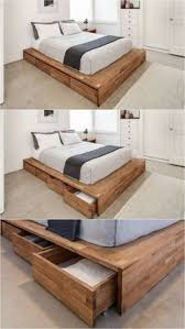 Platform Bed With Storage Drawers Diy by 20 Easy Diy Bed Frame Projects You Can Build Yourself Diy