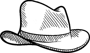 sketch cowboy hat colouring colouring tube