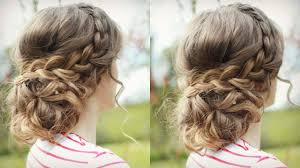 prom updo instructions diy curly updo with braids messy updo prom braidsandstyles12