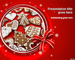 free christmas baking powerpoint template is available for