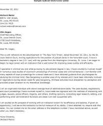 brilliant ideas of cover letter for judicial clerkship sample