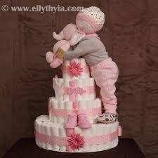 sleeping baby diaper cake elephant diaper cake 2 jpg baby