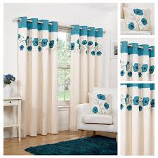 Teal Curtains Hamilton Mcbride Denby Teal Ring Top Eyelet Fully Lined
