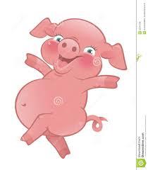 happy cartoon pig royalty free stock photos image 32244788