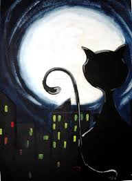 the cat and the moon by justsweet19 on deviantart