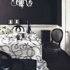 Black And White Dining Room Ideas by Simple Dining Room With Black White Wwall Decor Black Chairs And