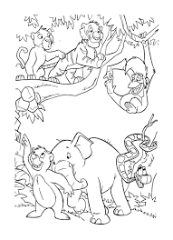 coloring jungleals on train to color pages for kidscoloring baby