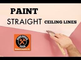 how to paint a straight ceiling line in a bathroom by home