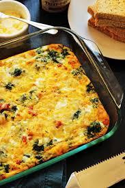 dinner egg recipes egg bake with ham spinach good cheap eats
