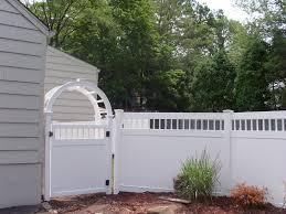 white vinyl privacy fence w gate home pinterest vinyl