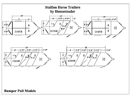 Horse Stall Floor Plans by Stallion Horse Trailers Homesteader Trailers