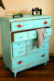 Shabby Chic Dressers by Shabby Chic Distressed Vintage Dresser Love The Red Handles With