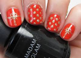 easy holiday nail art with madam glam gel polish adventures in