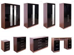 High Gloss Bedroom Furniture by Bedroom Furniture Black Gloss And Walnut Interior U0026 Exterior Doors